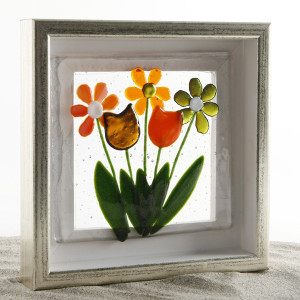 Blomsterbillede buket orange