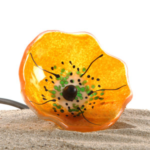 Blomst orange transparent stor 1025